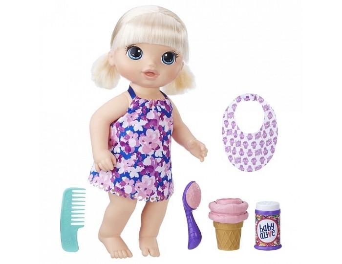 Baby Alive Hasbro Малышка с мороженным фото
