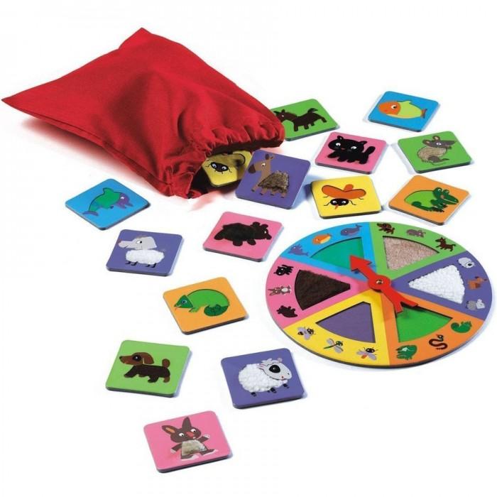 Игры для малышей Djeco Игра Тактильное лото Животные djeco игра тактильное лото животные djeco