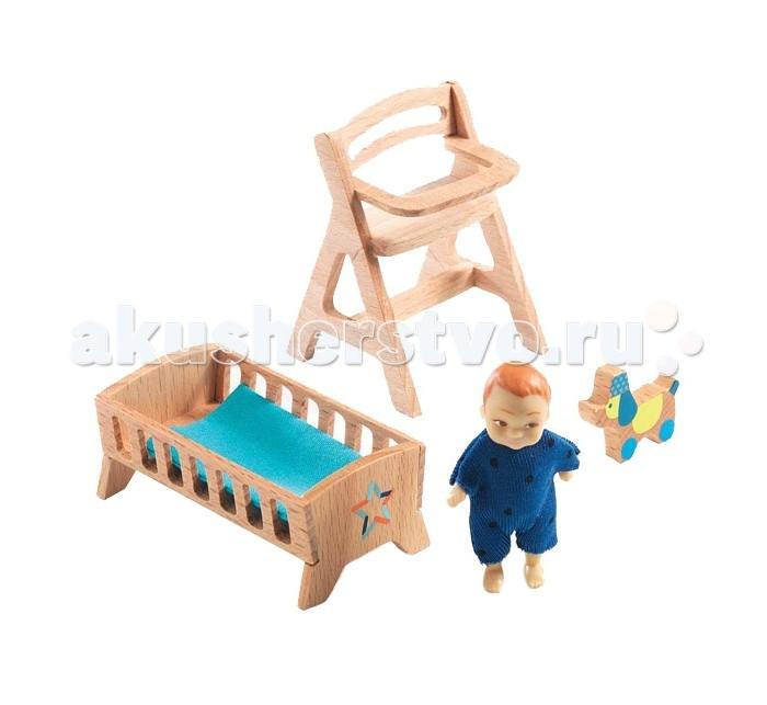 Кукольные домики и мебель Djeco Мебель для кукольного дома Детская для малыша Лоли детская мебель