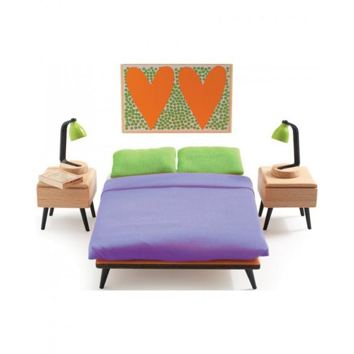 Кукольные домики и мебель Djeco Мебель для кукольного дома Спальня родителей, Кукольные домики и мебель - артикул:416374