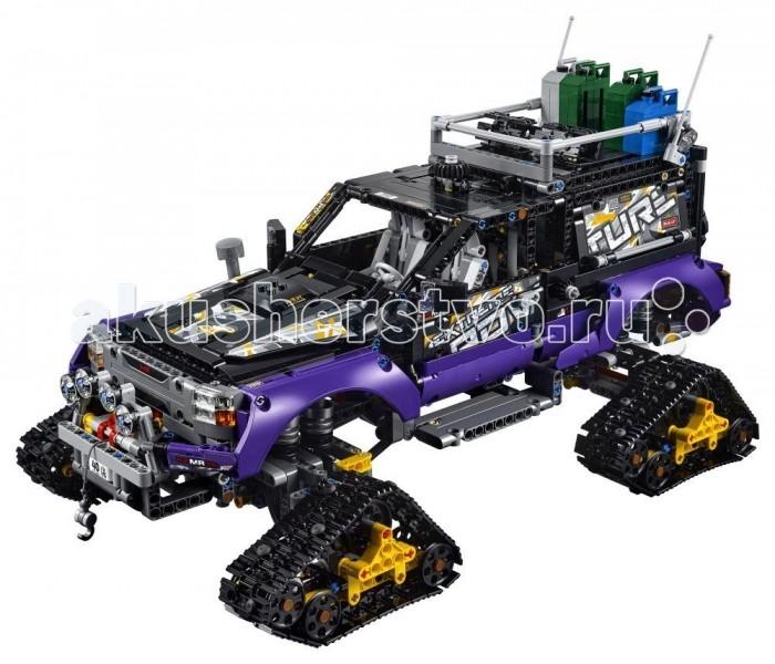 Конструктор Lego Technic Экстремальные приключения (2382 детали)Technic Экстремальные приключения (2382 детали)Lego Конструктор Technic Экстремальные приключения (2382 детали) бросает настоящий вызов опытным строителям Lego. С помощью таких элементов, как подвески и пневматический привод, дети могут строить различные машины с реалистичными функциями — от дверей,которые автоматически открываются, к мощному приводу на четыре колеса. От подъемных кранов к суперавтомобилю, любую модель можно перестроить в другое транспортное средство, позволяет еще больше расширить возможности игры.   Необычный джип-снегоход предназначен для эксплуатации в самой заснеженной местности. Вместо колес у него четыре гусеничных блока, способные проехать по самому толстому насту или льду. На бампере размещен буксировочный трос, в самом корпусе машины реализовано множество мелких, но очень полезных игровых функций. С помощью дополнительной инструкции можно построить автопоезд из двух секций.<br>