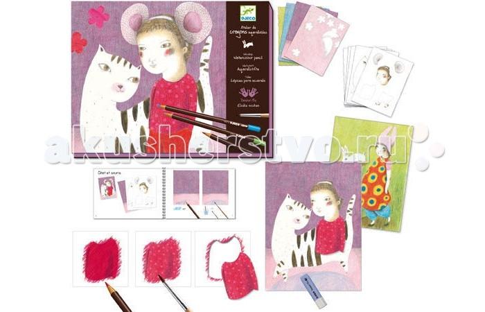 Наборы для творчества Djeco Раскраска-аппликация Художественная мастерская наборы для творчества djeco раскраска вечерние платья