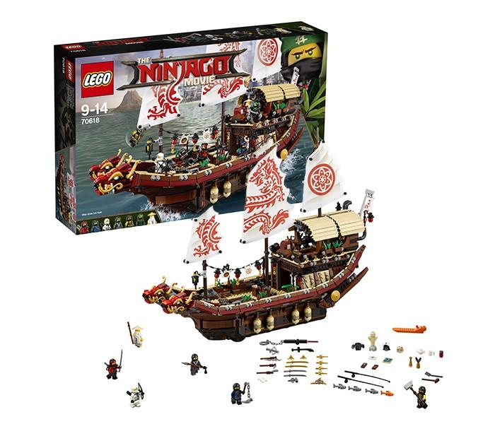 Конструктор Lego Ninjago Летающий корабль Мастера Ву (2295 деталей)Ninjago Летающий корабль Мастера Ву (2295 деталей)Lego Конструктор Ninjago Летающий корабль Мастера Ву (2295 деталей) - это увлекательный и очень интересный конструктор может надолго заинтересовать внимание многих детей. Представленный конструктор создан по мотиву увлекательного мультфильма о ниндзя - известных мастеров боевых искусств.  Задачей обладателя представленного конструктора является учиться искусному мастерству ниндзя на борту мощного летающего корабля Ву вместе с известными героями, имена которых постоянно находятся на слуху. Для начала необходимо собрать этот необыкновенный корабль, паруса которого украшены оригинальными интересными рисунками, несущими определенный смысл. На борту судна также имеется спрятанное оружие, ванная комната и просторная спальня самого Ву. Главной же задачей ребенка является найти великое оружие, известное как боевой лазер, и совершенствовать свое мастерство ниндзя в додзе Мастера Ву.  Снять корабль с якоря и отправиться навстречу новым захватывающим приключениям ниндзя - мечта многих мальчиков, которую можно легко воплотить в реальность с таким игровым набором.<br>