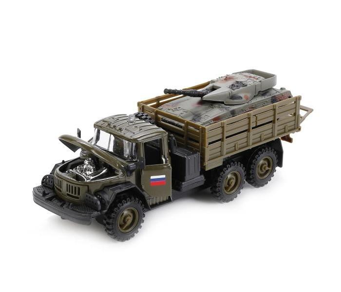 Машины Технопарк Машина ЗИЛ 131 Военный с танком самосвал зил ммз продам б у пермь