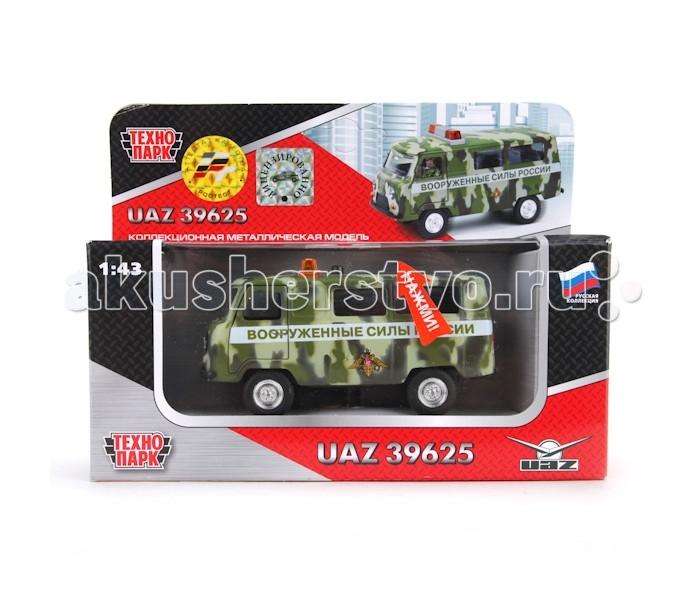 Машины Технопарк Машина УАЗ 39625 Вооруженные силы autotime модель автомобиля uaz 39625 инкассация