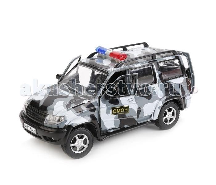 Машины Технопарк Машина УАЗ Patriot ОМОН технопарк урал будка омон свет звук 14 см ct 1054 cab d