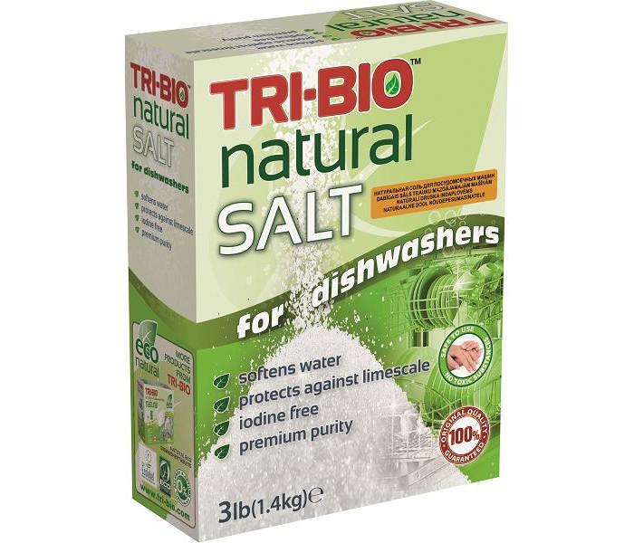 Бытовая химия Tri-Bio Соль для посудомоечных машин 1,4 кг биосредство для мытья полов tri bio 940 мл