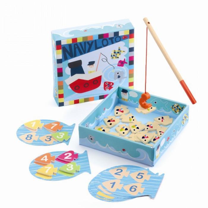 Игры для малышей Djeco Настольная игра Морское лото игры для малышей djeco детская настольная карточная игра мини семья