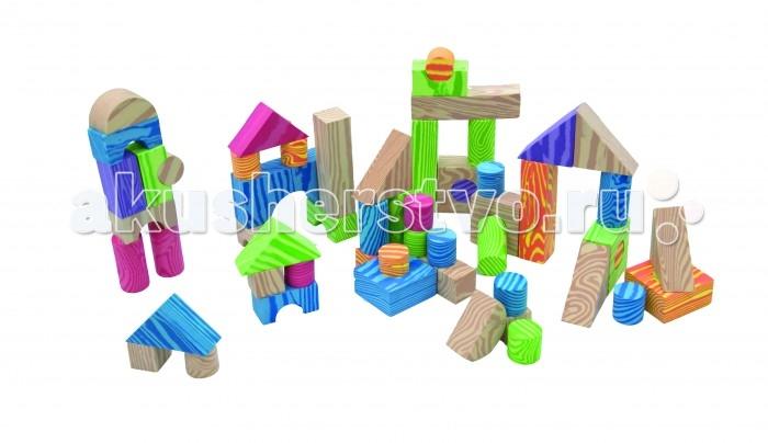 Развивающие игрушки Little Нero Набор мягких строительных кубиков развивающие деревянные игрушки кубики азбука