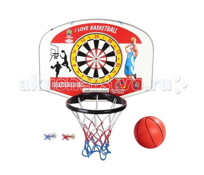 Спортивный инвентарь Pilsan Игровой набор Баскетбол + дартс настенный баскетбольное кольцо pilsan с мишенью для игры в дартс