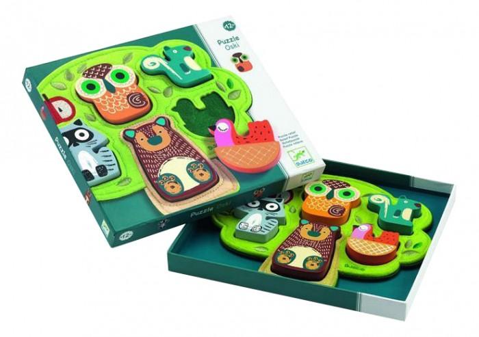деревянные игрушки djeco развивающая мусса Деревянные игрушки Djeco Фетровая рамка-вкладыш Оски