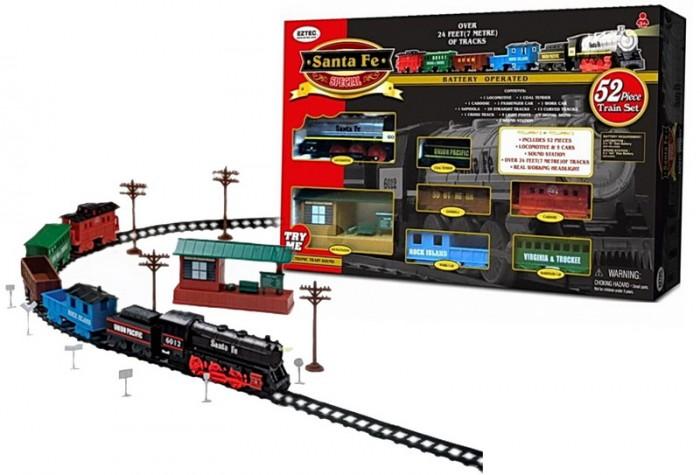 Железные дороги Eztec Железная дорога Santa Fe Special Train Set 52 части, Железные дороги - артикул:417504