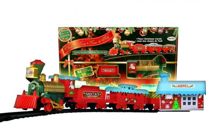 Железные дороги Eztec Железная дорога Christmas Train 53 части модель поезда train n 1 220