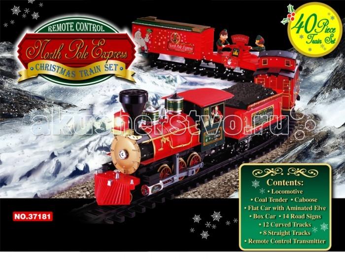 Железные дороги Eztec Железная дорога Christmas North Pole Express 40 частей, Железные дороги - артикул:417584