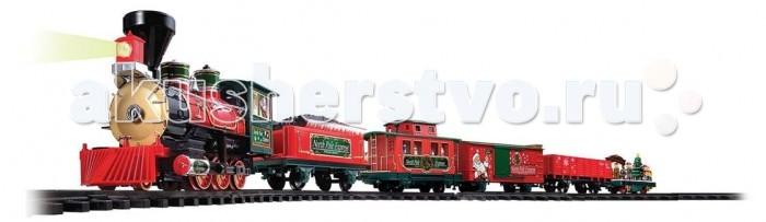 Eztec Железная дорога Christmas North Pole Express 36 частейЖелезная дорога Christmas North Pole Express 36 частейEztec Железная дорога Christmas North Pole Express 36 частей выполнена в новогоднем дизайне, который приоткроет Вашему малышу настоящую сказку. Это реалистичная уменьшенная модель поезда.  Для ребенка собрать железную дорогу станет увлекательным времяпровождением, к которому надобно приложить все свои умения, внимание, терпение и навыки.  Особенности: Возможно управлять поездом с помощью пульта управления (входит в комплект) Движение состава: вперед, назад, остановка Звуковые эффекты: гудок, имитация движения поезда, играет 5 рождественских мелодий Световые эффекты: при движении включение переднего прожектора  Длина железнодорожного полотна: 5.45 м. В комплекте: паровоз вагон с углем платформа с рождественскими фигурками эльфов служебный вагон товарный вагон 12 изогнутых участков дороги, 8 прямых 7 дорожных знаков.<br>
