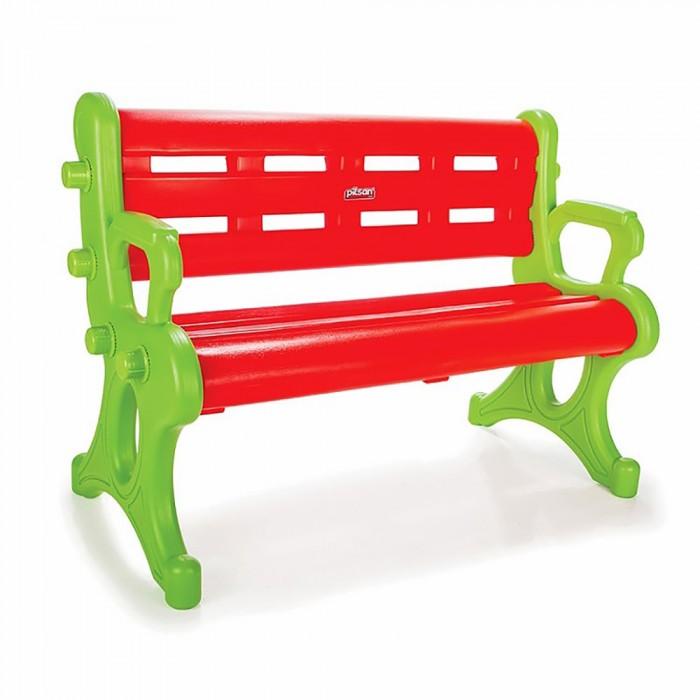 Pilsan Детская скамейкаДетская скамейкаДетская скамейка Pilsan выполнена из прочного экологически чистого пластика с соблюдением самых высоких стандартов безопасности. Эта яркая и красочная игрушка отлично подойдет для игр и на улице, и в доме. Ее можно установить в абсолютно любом месте.   Детская скамейка для детей с максимальным весом 70 кг.  Размер: 50х107х72 см.  Вес 7.5 кг.  Компания Pilsan начала свою историю в 1942 году. Сегодня – это компания-гигант индустрии крупногабаритных детских игрушек, которая экспортирует свою продукцию в 57 стран мира. Компанией выпускается 146 наименований продукции – аккумуляторные и педальные автомобили, велосипеды, развивающие игрушки и аксессуары для детей. Вся продукция Pilsan сертифицирована и отвечает международным стандартам качества.<br>