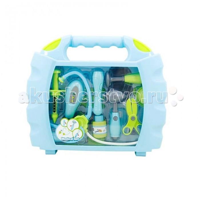 Yako Игрушка детская Набор Доктор свет,звукИгрушка детская Набор Доктор свет,звукYако Игрушка детская Набор Доктор - этот игровой набор позволит ребенку примерить на себя роль настоящего врача.   В комплект включены такие необходимые любому доктору вещи, как фонендоскоп, градусник, шприц, молоточек и многое другое. Хранить или при необходимости переносить игрушки можно будет в специальном чемодане с удобной ручкой. Световые и звуковые эффекты не только позволят разнообразить игру, но и помогут сделать ее еще интереснее.   В комплекте:  фонендоскоп градусник шприц аксессуары<br>