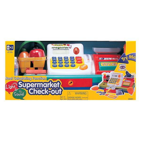 Keenway Набор Супермаркет: кассовый аппарат, продукты