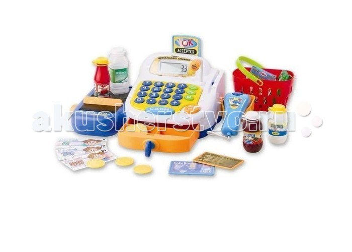 Keenway Набор-супермаркет: кассовый аппарат, микрофон, продукты