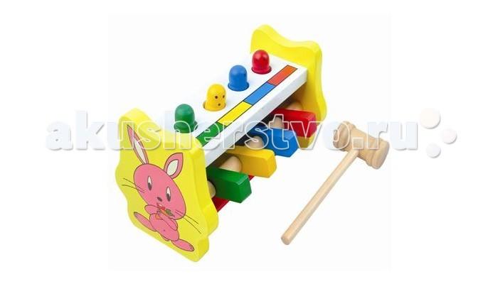 Деревянные игрушки QiQu Wooden Toy Factory Стучалка Летающие человечки