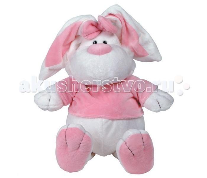 Мягкие игрушки Gulliver Кролик белый сидячий 56 см