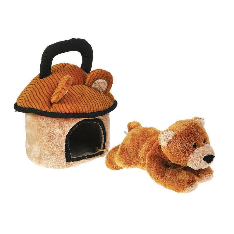Мягкие игрушки Gulliver Домик-сумка с мишкой 15 см