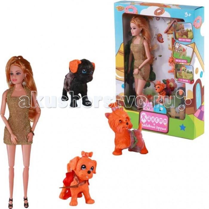 Куклы и одежда для кукол Yako Кукла Жанетт и забавные собачки
