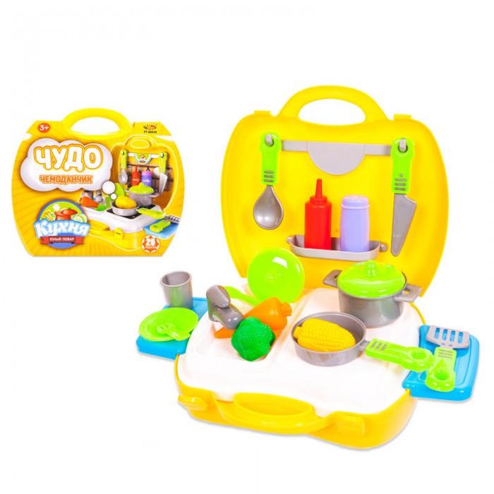 Ролевые игры ABtoys Чудо-чемоданчик Кухня 21 предмет набор мебели для гостиной 2 с аксессурами счастливые друзья abtoys
