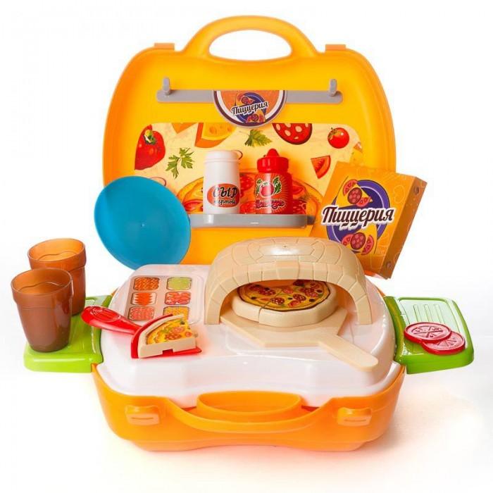 Ролевые игры ABtoys Чудо-чемоданчик Пиццерия 23 предмета набор мебели для гостиной 2 с аксессурами счастливые друзья abtoys