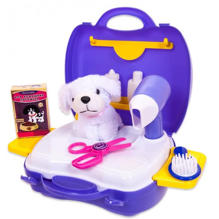 Ролевые игры ABtoys Чудо-чемоданчик Набор для ухода за домашним питомцем (с собачкой) 16 предметов