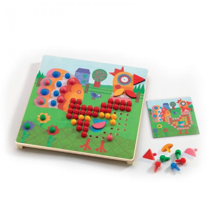 Мозаика Djeco Игра Мозаика Животные djeco набор карточек для раскрашивания животные