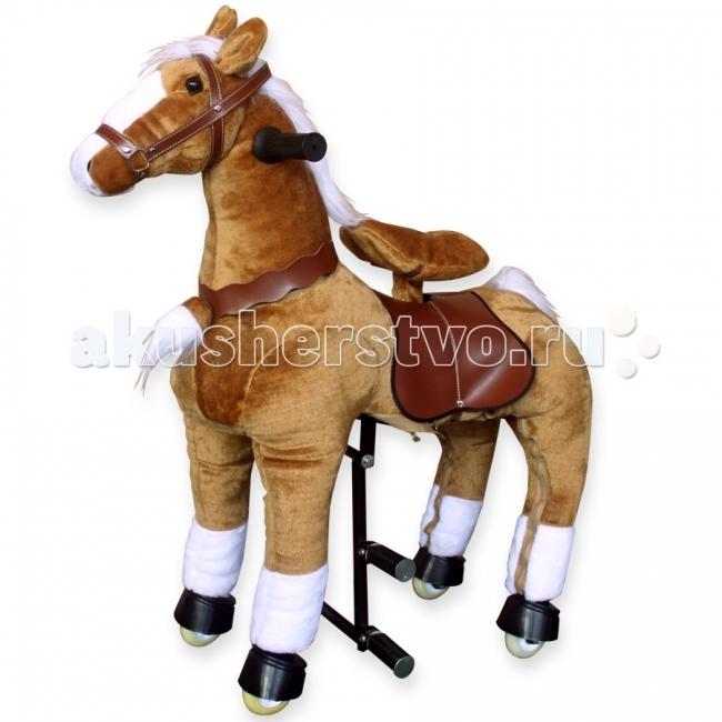 Каталка LAPA House  Лошадка светло-коричневая 92 смЛошадка светло-коричневая 92 смЛошадка механическая светло-коричневая 92см   Чтобы отправиться в путешествие верхом на такой лошадке, достаточно просто сесть в седло, а затем привстать на педали-стремена. Лошадка полностью механическая, и приходит в движение именно за счет такого переноса центра тяжести ребенка.   Во время движения ребенок держится за удобные ручки на шее лошадки, а поворачивая их, как руль велосипеда, управляет направлением движения. Игрушка развивает небольшую скорость, благодаря чему сопровождающий взрослый может спокойно идти рядом.   Механизм игрушки рассчитан на долгую и активную эксплуатацию, поэтому ее внутренняя рама из стали отличается повышенной надежностью. Каждая игрушка собирается вручную и проходит необходимый контроль качества.   Конструкция устойчива в покое и в движении, есть защита от качения назад, а также ограничители, обеспечивающие безопасный угол поворота при движении.   Мягкий материал, имитирующий шкуру животного, легко снять и почистить, так что игрушку можно смело использовать не только дома, но и на улице.<br>