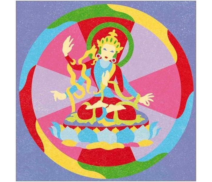 Творчество и хобби , Картины своими руками Djeco Песочные картинки Тибетские мандалы арт: 419974 -  Картины своими руками