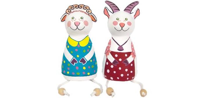 Раскраски Шар-папье Набор для творчества Овечка и Козочка шар папье набор для раскрашивания панда из шар папье