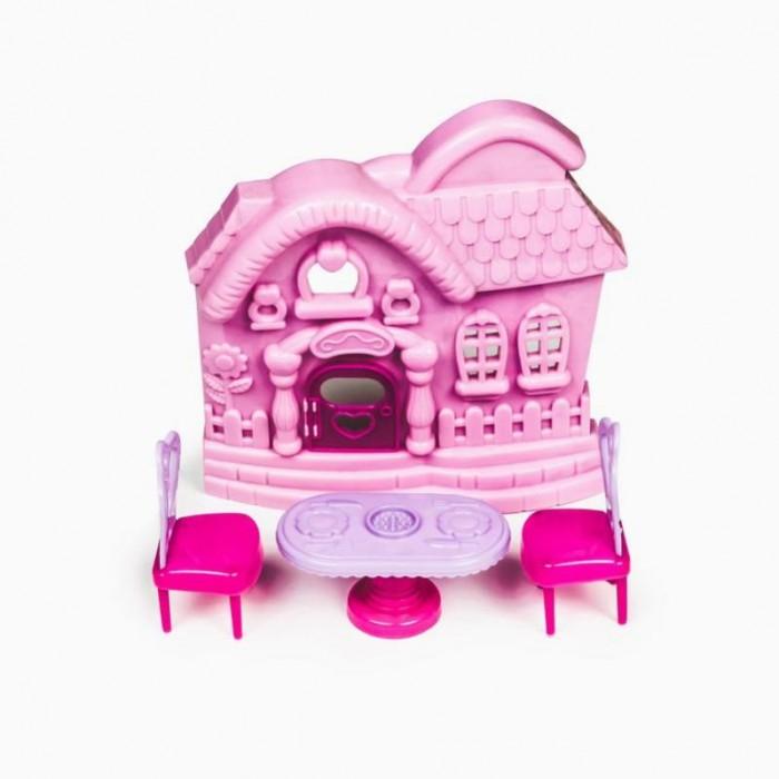 Кукольные домики и мебель Yako Набор Мебель с домиком M6190 кукольные домики и мебель hape мебель для столовой