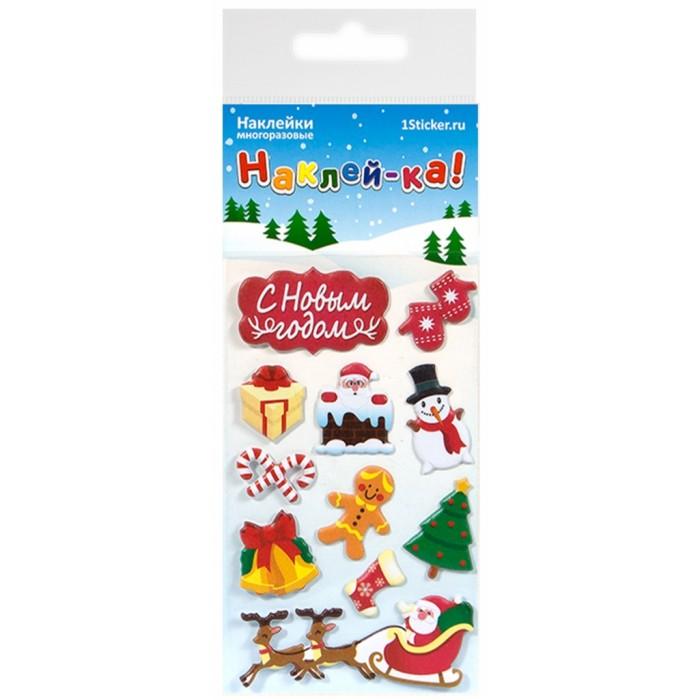 Детские наклейки Липляндия Набор наклеек Новый Год 2 тверь таймер к холодильнику индезит тэу 01 2