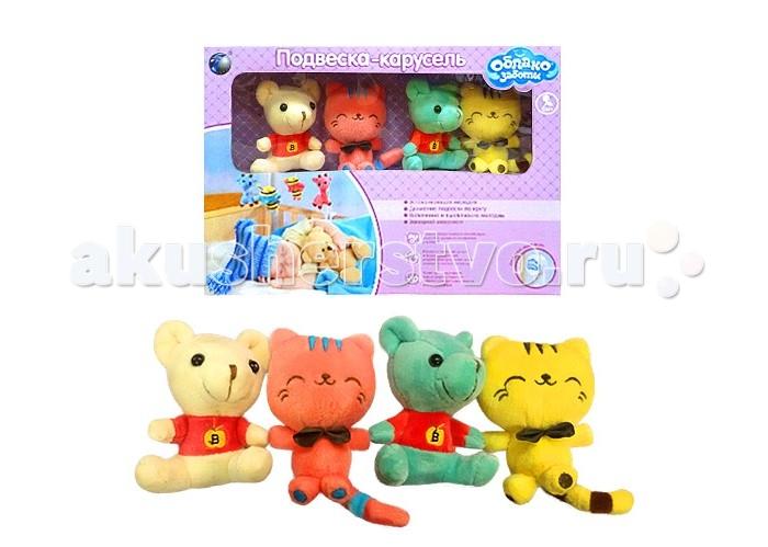 Мобили Облако заботы Котёнок и Мишка фиксатор двери мир детства мишка