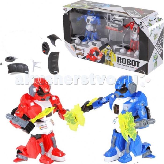 Интерактивная игрушка Yako Робот на радиоуправлении Y16462668Робот на радиоуправлении Y16462668Yако Робот на радиоуправлении - это потрясающий игровой набор, который способен на долгое время завлечь мальчика, причем ему не обязательно играть в одиночестве, ведь он всегда может отдать борозды правления второго робота своему другу.   В комплект входят два робота, а также четыре пульта, которыми ими можно управлять. Также в набор включены аккумуляторы для роботов и зарядные устройства. Пульты управления необходимо брать в каждую руку, после чего можно устроить настоящий поединок между роботами, причем всеми их действиями будут управлять дети.<br>