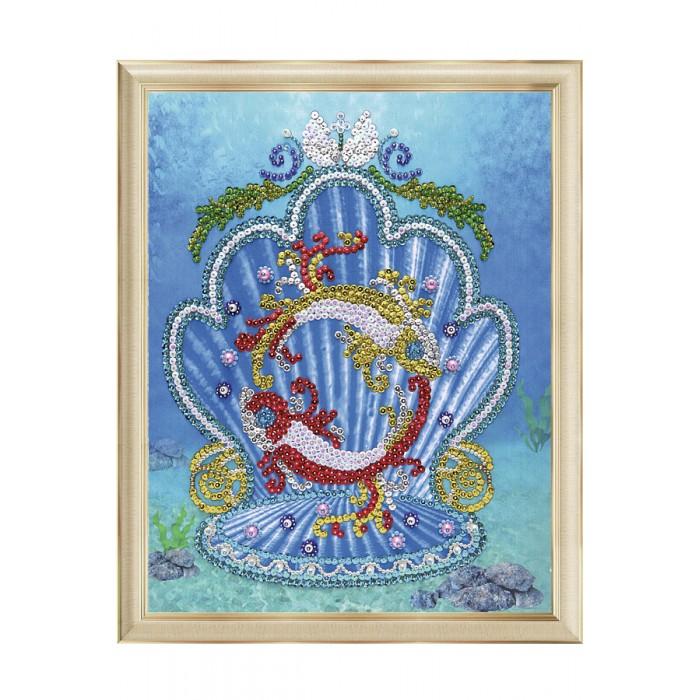 Картины своими руками Волшебная мастерская Мозаика на холсте Рыбы