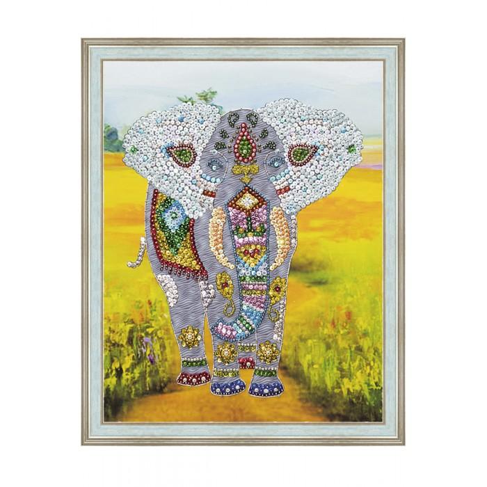 Картины своими руками Волшебная мастерская Мозаика на холсте Слон