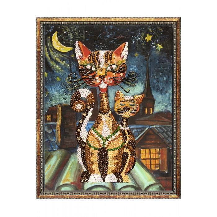 Картины своими руками Волшебная мастерская Мозаика на холсте Кошки