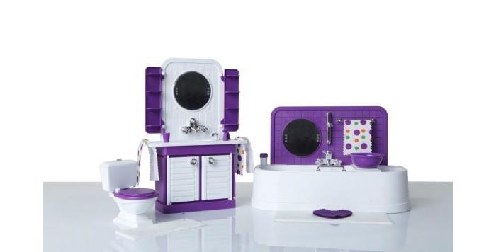 Кукольные домики и мебель Огонек Ванная комната Конфетти в сборе атлант