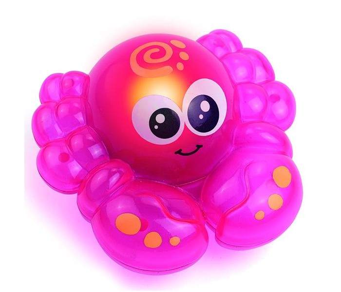 Игрушки для ванны Hap-p-Kid Игрушка для ванной со световым эффектом Крабик настольные игры hap p kid пинбол домашние животные
