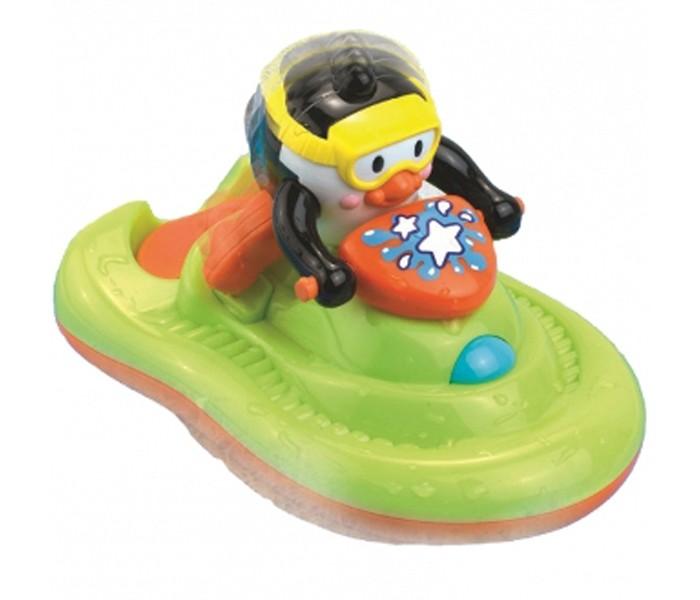 Игрушки для ванны Hap-p-Kid Игрушка для купания Пингвиненок на катере фигурки игрушки hap p kid пингвиненок на катере