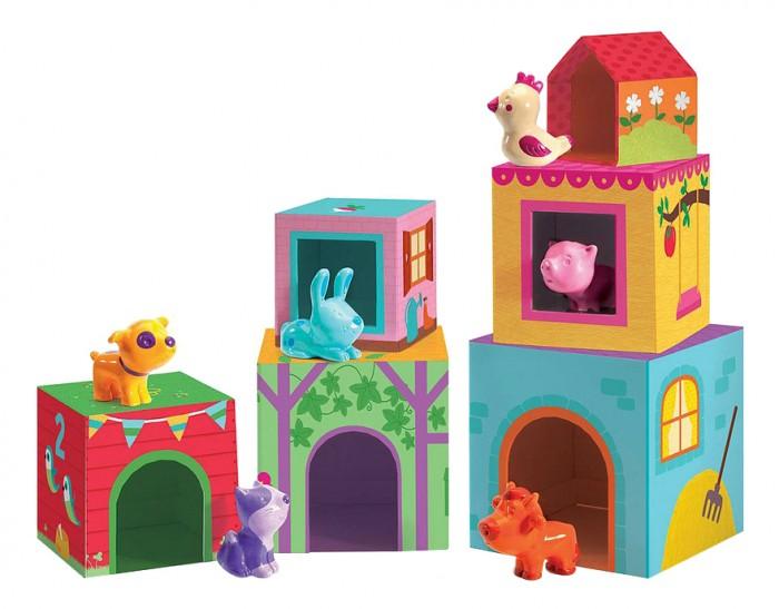 Развивающие игрушки Djeco Пазл-кубики Ферма спортивный инвентарь djeco игра резиночка зайчик page 9