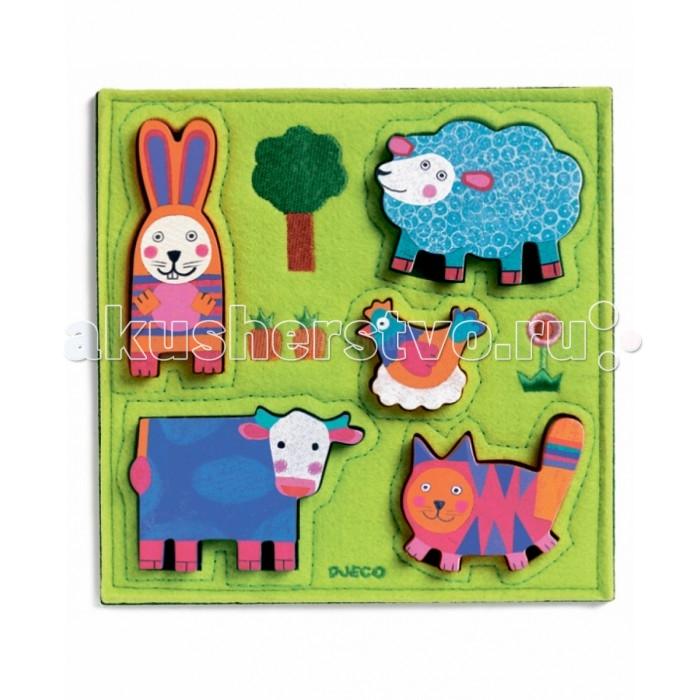 деревянные игрушки djeco развивающая мусса Деревянные игрушки Djeco Фетровая рамка-вкладыш Нуки