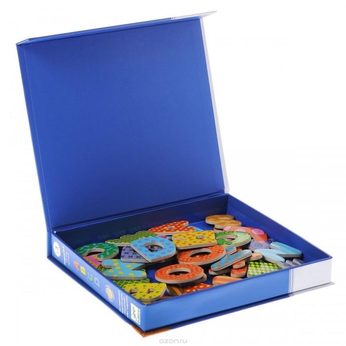 Игры для малышей Djeco Детская развивающая магнитная игра Латинские буквы 38 шт. djeco развивающая магнитная игра гео человечки djeco