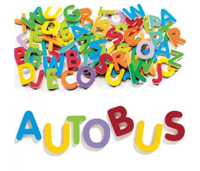 Игры для малышей Djeco Детская развивающая магнитная игра Латинские буквы пазлы djeco детская магнитная игра забавные животные