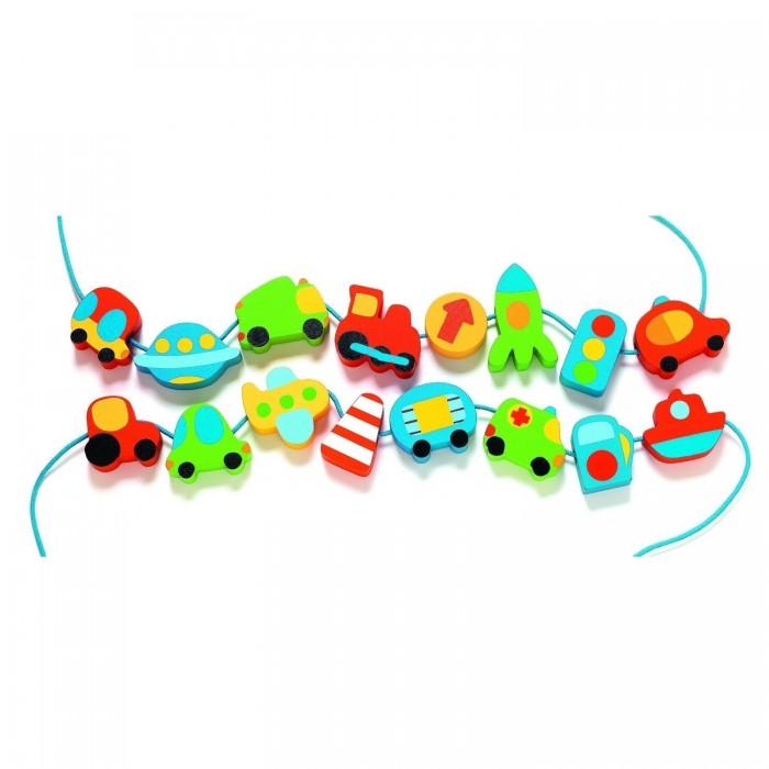 деревянные игрушки бэмби набор дорожные знаки 7777 Деревянные игрушки Djeco Головоломка Город