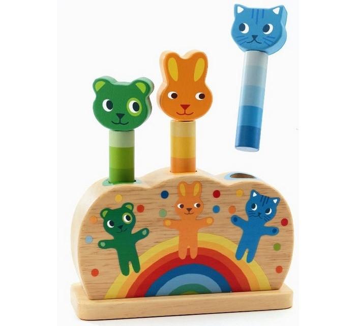 Деревянные игрушки Djeco Игрушка Зверюшки – попрыгунчики настольные игры djeco игра лото дом